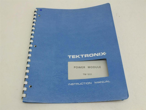 Tektronix TM501 Power Module  Instruction Manual