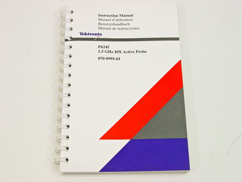 Tektronix P6245 1.5 GHz 10X Active Probe  Instruction manual