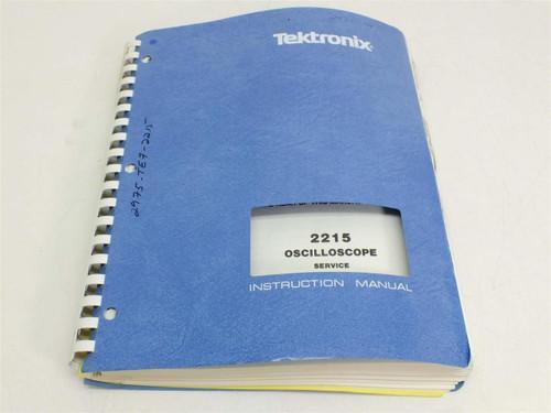 Tektronix 2215 Oscilloscpe service  Instruction Manual