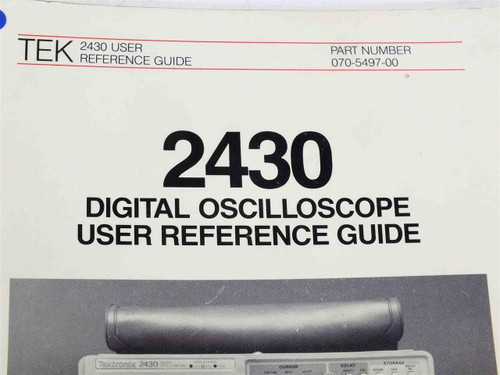 tektronix 2430 user reference guide recycledgoods com rh recycledgoods com