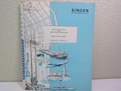 Singer Instrumentation 6612C/D Sweep Oscillator Plug-In Instruction Manual
