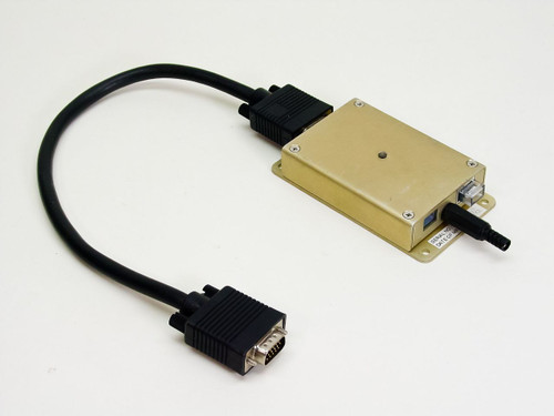 Custom 15-Pin Video Cable box with Stereo Ouput Plug