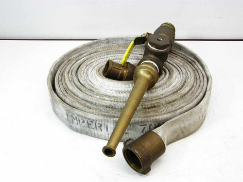 Imperial 02 7213  Fire Hose with High Pressure Brass Nozzle