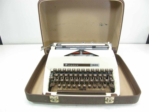 Facit 1620 Portable Manual Typewriter with Case AS-IS