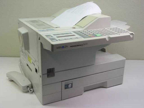 Minolta Fax Machine - Missing Telephone Cradle on Back MinoltaFax 5600