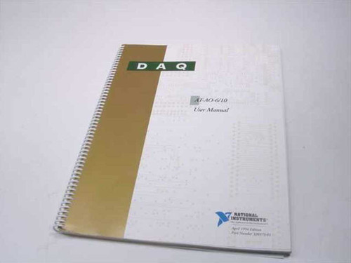 National Instruments AT-A0-6/10  DAQ User Manual