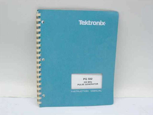 Tektronix 070-1598-01  PG 502 250MHz Pulse Generator Instruction Manual