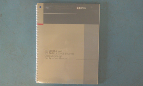 HP 70311-90000 70311A and 70312A Operating and Calibration Manual