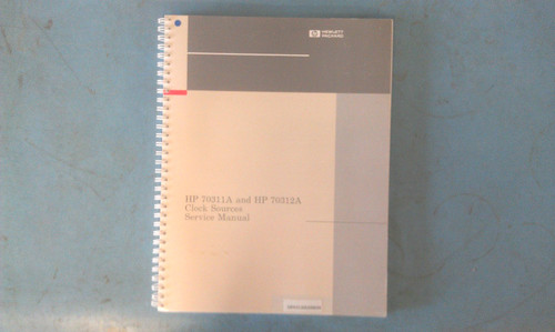 HP 70311-90001 70311A and 70312A Clock Sources Service Manual