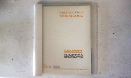 Interstate Electronics Series 30  Instruction Manual