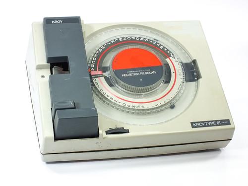 Kroy Lettering Machine Model 61