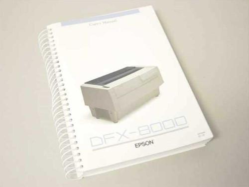 Epson User's Manual DFX8000 (DFX-8000)