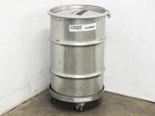 Mid-States 55 Gallon  Stainless Steel Hazardous Waste Drum Container w/ Dolly