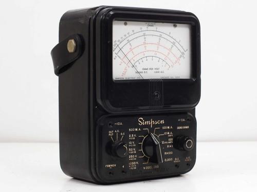 Simpson Model 260-2  Series 2 Analog VOM Multimeter VINTAGE