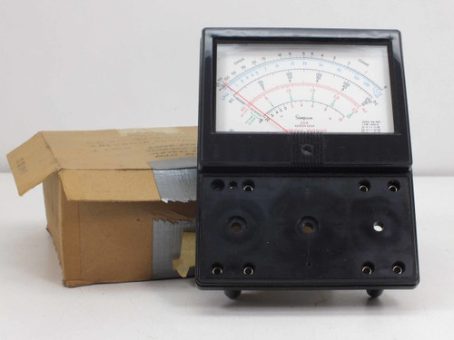 Simpson 260  Series 6XLP Low Ohms VOM Multimeter Front Cover Panel Replacement