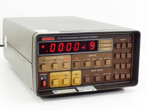 Keithley 220  Programmable Low Level Current Source