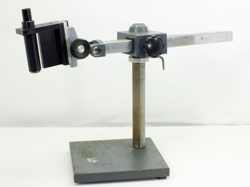 """American Optical Grey  Microscope Stand with 18"""" Adjustable Arm"""