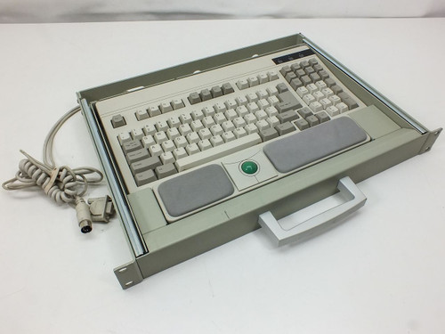 CyberResearch 1U Rackmount  Slide-Out AT Keyboard with Trackball Mouse