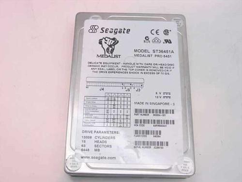 """Seagate 6.4GB 3.5"""" IDE Hard Drive (ST36451A)"""