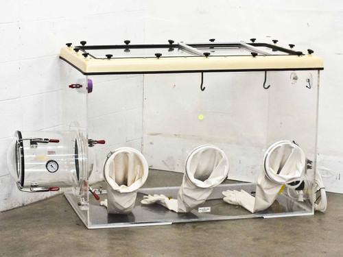 Plas Labs 830-ABD   Glove box w/ cylindrical transfer chamber