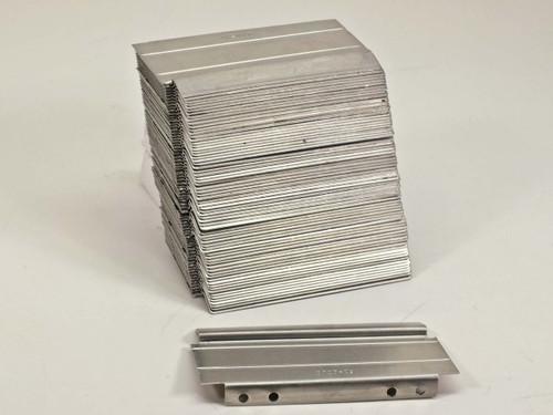 Lista D100-09  Lot of 35 Aluminum Cabinet Drawer Dividers