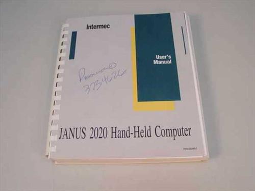 Intermec JANUS 2020 Wireless Handheld Computer Manual 059951