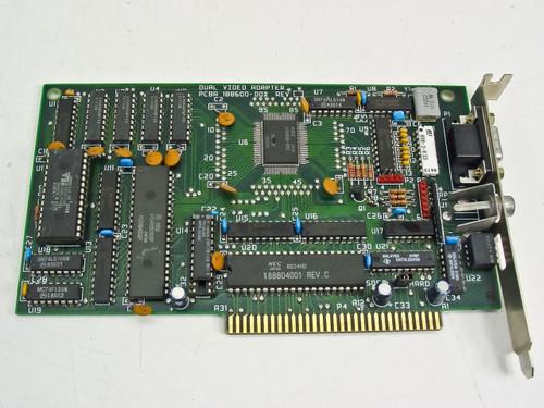 Generic 188600-002  8 Bit ISA Dual Video Adapter Rev A