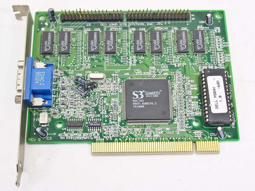Dell 00097886  PG64V PCI Video Card 210-0200-002 1X0-0362-509