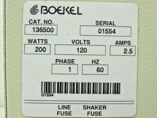 Boekel Industries Inc 136500  Incubator Shaker