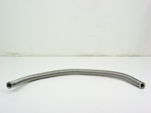 "QF 1 3/16""  Stainless Steel Vacuum Pump Flex Hose 30 Inches"