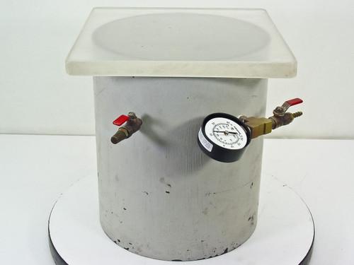 Steel 0.5 Cu Ft  Vacuum Chamber Tank with Vacuum/Pressure Gauge