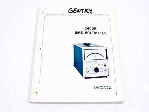 HP 3400A  Operating & Service Manual - 1984