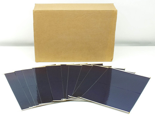 Uni-solar 6.2W 1.6 Volt AA DIY Flexible Amorphous Solar Cells w/Solder Tabs Lot of 10