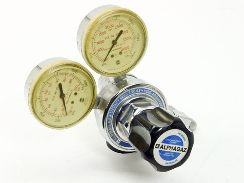 Alphagaz 2500  High Pressure Gas Regulator with 2 Gauges