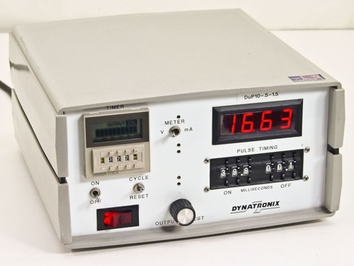 Dynatronix duP10-.5-1.5  Pulse Power Supply Meter 999-0140-12