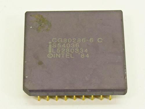 Intel  CG80286-6  286 6MHz Gold Pin CPU Ceramic PGA-68