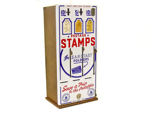 Shipman Manufacturing Co. Vintage  Three-Slot US Post Office Stamp Vending Machine