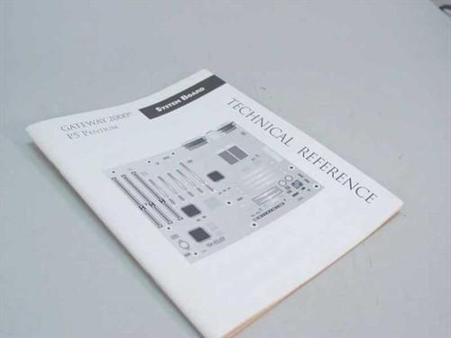 Gateway Pentium 5 2000 Technical Refrence Manual 8500830