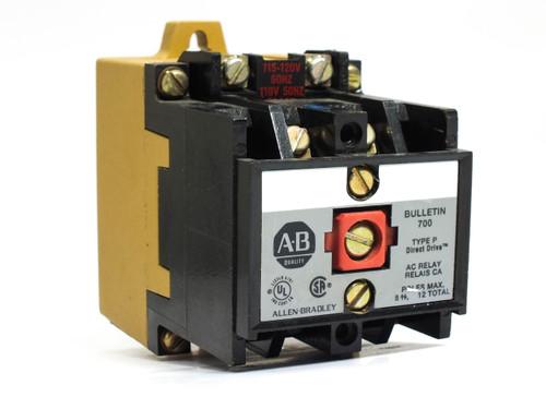 Allen-Bradley Bulletin 700 115-120 Volt Type P Contact AC Relay (700-P400A1)