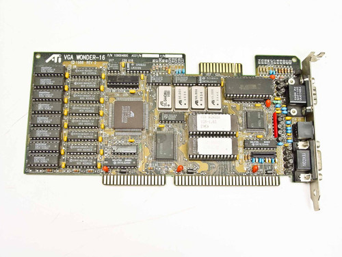 ATI 109004800  ISA Video Card ATI VGA WONDER-16 W/Mac Serial Port