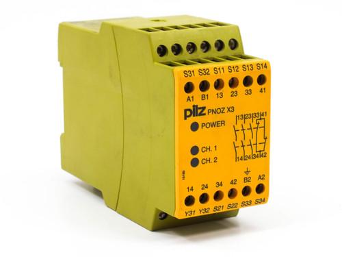 Pilz PNOZX3 4 Pole Safety Relay 774310  24 VAC / 24 VDC
