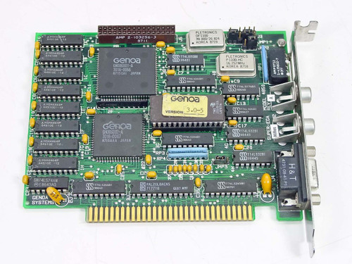 Genoa  4850 Rev A  Super-EGA Video Card
