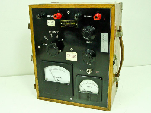 J. W. Dice Co. Model 151-S  Microhm Meter Multiply by 1 to 10,000