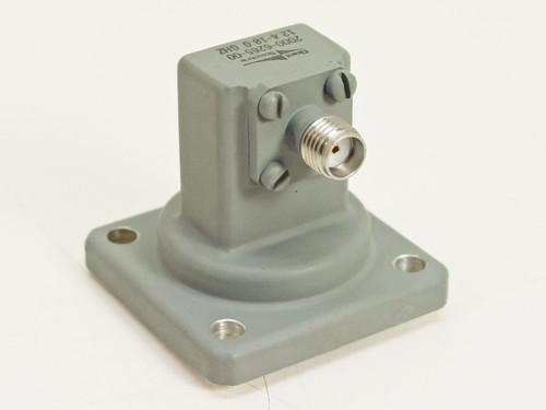 Omni-Spectra 2000-6265-00  KU Band Waveguide SMA(F). 12.4 to 18GHz.