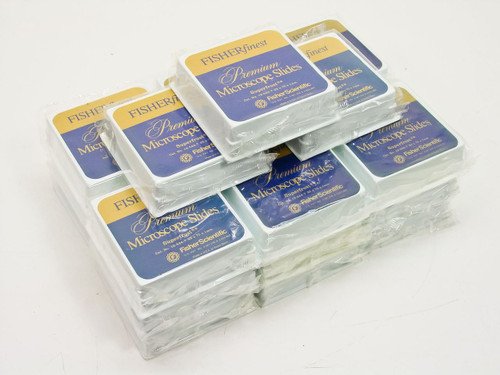 Fisher Scientific 12-544-7  Premium microscope slides - lot of 21 boxes