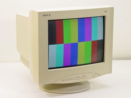 """Acer 7254e  15"""" CRT Monitor"""
