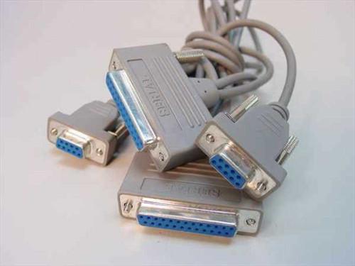 Generic Serial Dual DB9 Female to DB25 Female Terminal Cab (Cable)