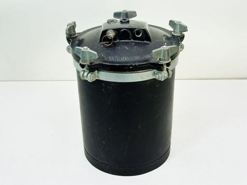 Black 2.45 Gallon 10 x 10 x 14  Paint Pot Air Pressure Tank
