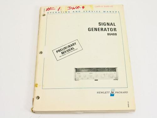 HP 08640-90021  8640B Signal Generator Operating & Service Manual