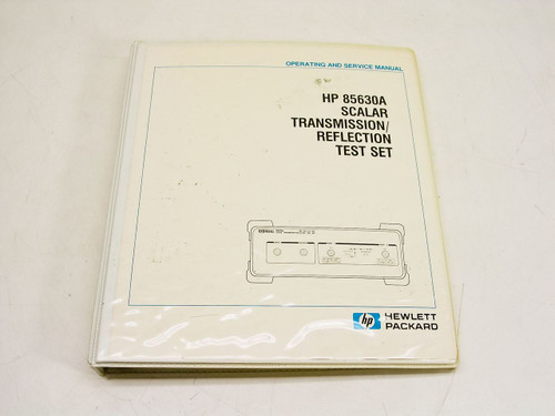 HP 85630A  Operating & Service Manual